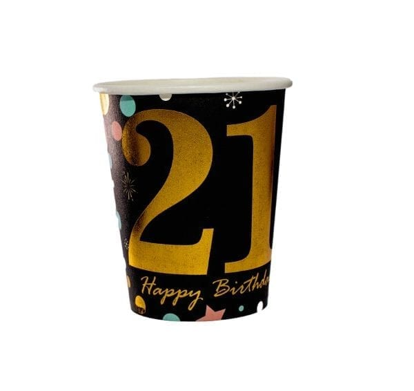 21st Birthday Paper Cup